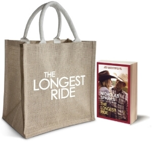 $25 Visa gift card to see the film in theaters, Tote Bag, Copy of the book (movie tie-in book cover)
